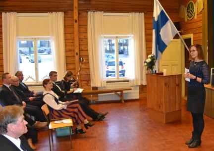 Paula Eskolan päätössanat (kuva Juha Silvanto)