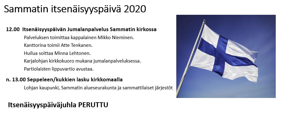 Sammatin itsenäisyysjuhla 2020 nettiin